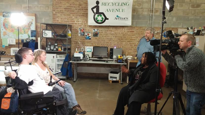 Recycling Avenue segment on ABC Channel 7 Eyewitness News