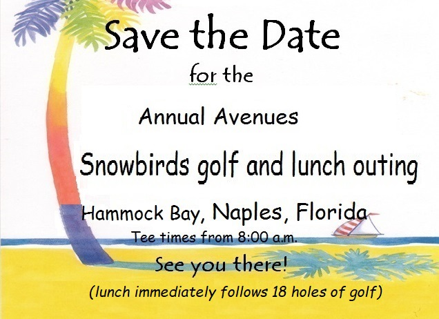 Snowbirds Gold & Lunch Outing